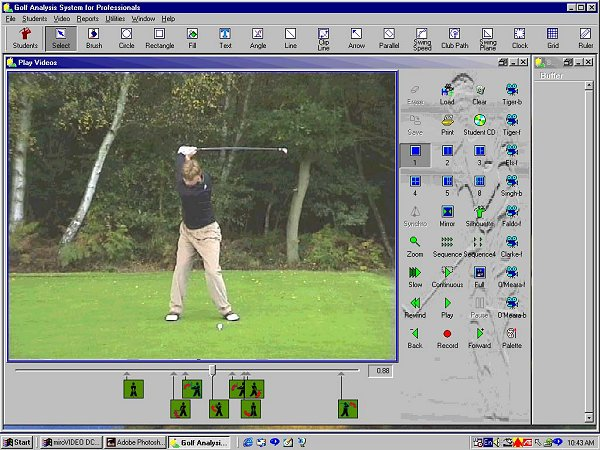 GASP Golf Swing Analyzer Screenshot